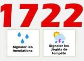 1722 : numéro non urgent pour tempête ou inondation