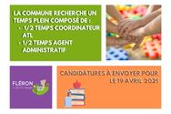 Offre d'emploi : coordinateur ATL/ agent administratif