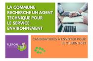 Offre d'emploi : Gradué spécifique pour l'Environnement