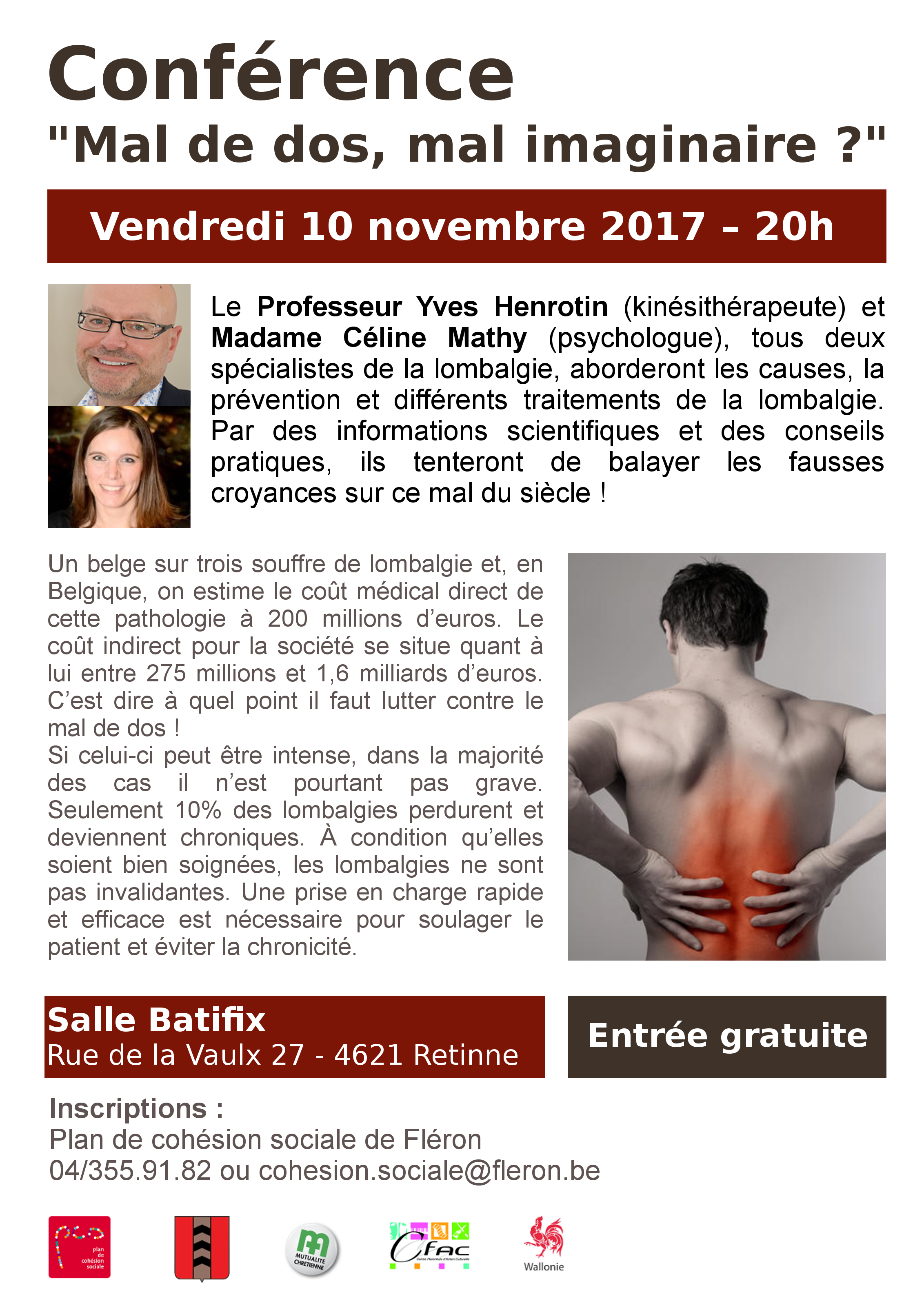 2017 11 10   Conference lombalgie