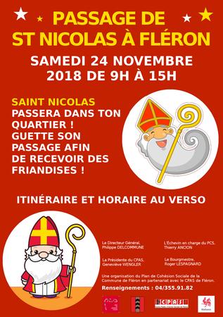 Passage de Saint Nicolas à Fléron