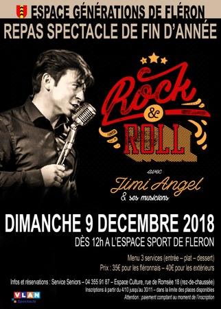Repas spectacle de fin d'année. Rock&Roll avec Jimi Angel