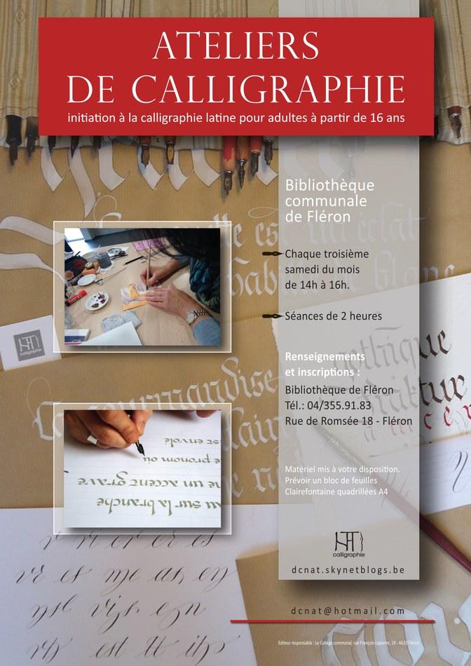 Fléron Pub Atelier calligraphie 2015
