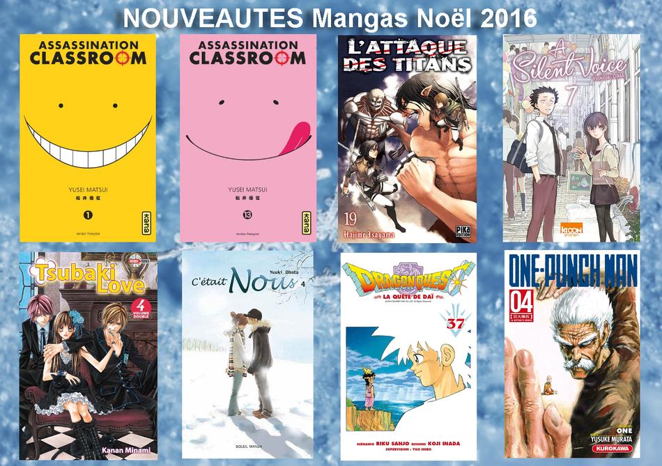 NouveautesBD mangas noel 2016