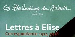 Théâtre : Lettres à Elise - les Baladins du Miroir