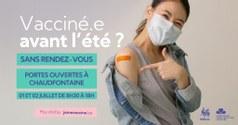 Vaccination à Vaux : 1 et 2 juillet sans rendez-vous